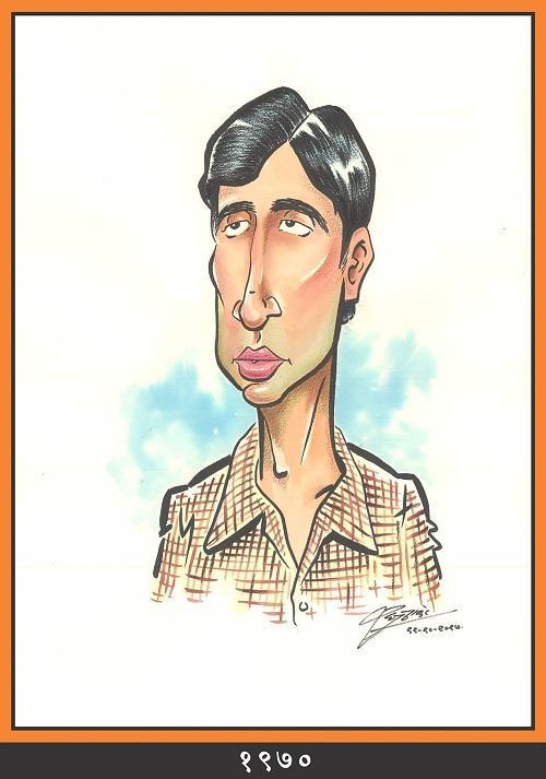 राज ठाकरे ने बिग बी के जीवन काल को अपनी 6 तस्वीरों में उकेरा। पहली फोटो उनके करियर की शुरुआत की है।