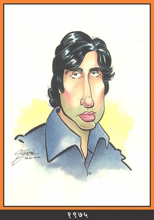अमिताभ बच्चन को उनके जन्मदिन पर दी गई यह दूसरी फोटो जिसमें उन्हें 1975 के दौर में दिखाया गया है।