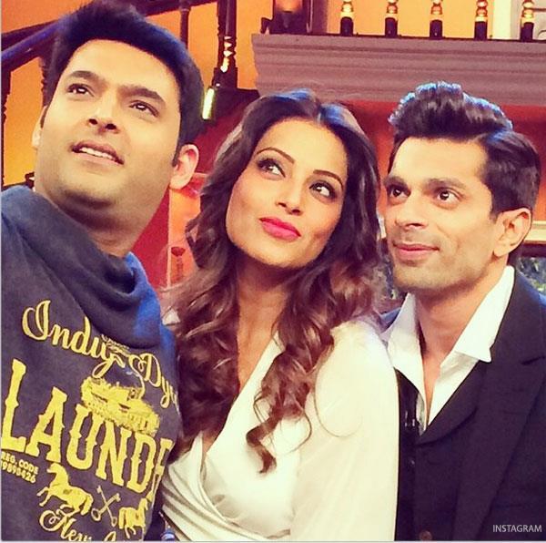 करण से अपनी शादी के बाद कपिल के शो पर पहुंची अभिनेत्री बिपाशा बासू ने भी शो के होस्ट के साथ सेल्फी खिंचवाई।