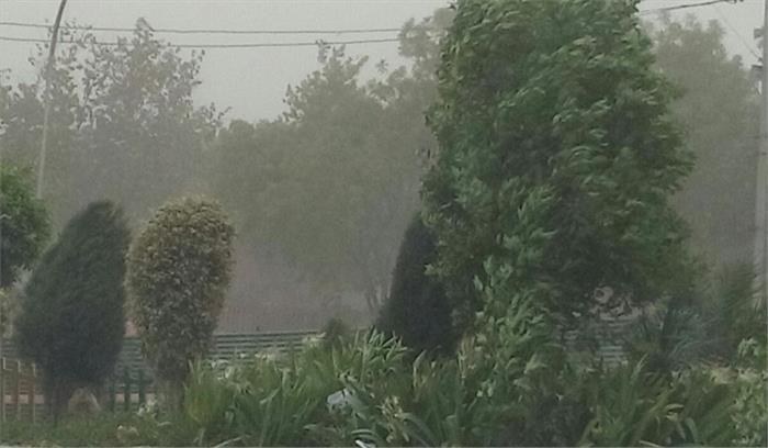 धूल भरी आंधी के बाद बारिश, दिल्ली में खुशनुमा मौसम