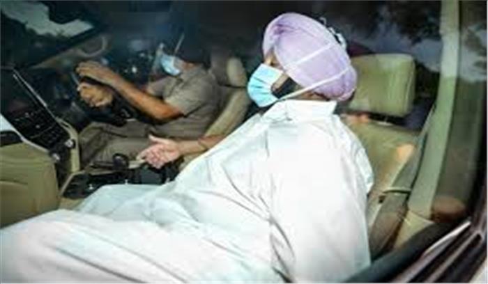 हाथ में इस्तीफा - तेवरों में तल्खी के साथ गए सोनिया गांधी से मिलने पहुंचे थे अमरिंदर सिंह