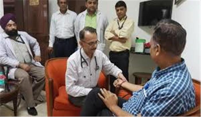 भूख हड़ताल पर बैठे स्वास्थ्य मंत्री की तबीयत बिगड़ी, सीएम ने प्रधानमंत्री से की हड़ताल खत्म करवाने की मांग