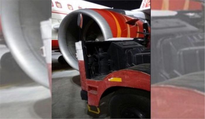 आईजीआई एयरपोर्ट पर बड़ा हादसा टला, विमान ग्राउंड कूलिंग यूनिट ट्रक से टकराया