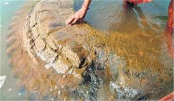 महानदी में डूबा 15वीं सदी का विष्णु मंदिर नदी से बाहर आया , INTACH ने किया खोजने का दावा