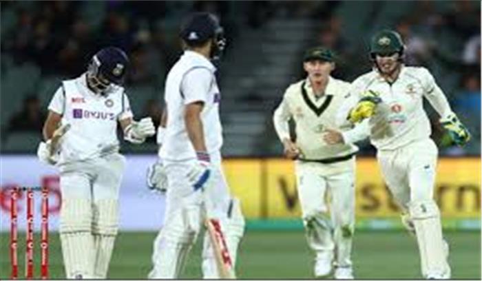IND - AUS वनडे LIVE - दूसरी पारी में भारत 36 रन पर ढेर , शर्मनाक हार की और बढ़ता भारत