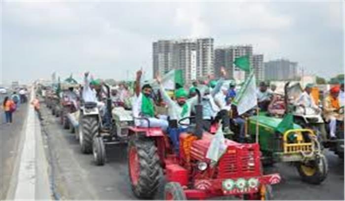 ट्रैक्टर रैली को लेकर किसान - जवान में ठनी  kmp एक्सप्रेस वे का प्रस्ताव खारिज  नाराज किसानों का दिल्ली कूच