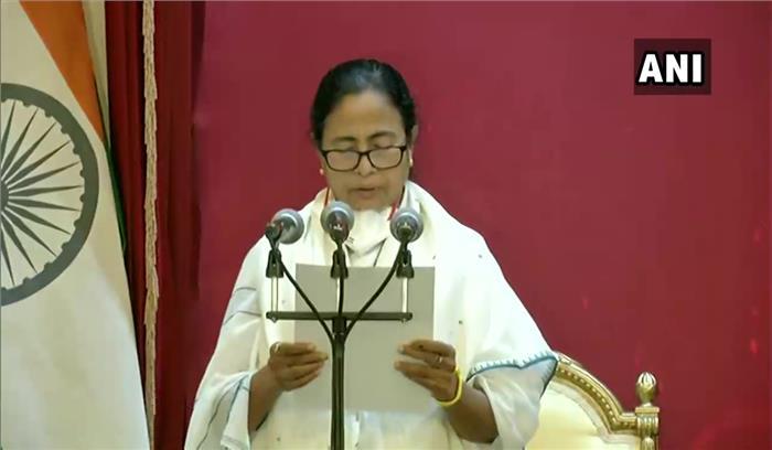 ममता बनर्जी ने तीसरी बार मुख्यमंत्री पद की शपथ ली , भाजपा ने किया बहिष्कार , उद्योगपति भी नहीं आए