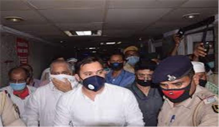 पटना में तेजस्वी-राबड़ी का सियासी हंगामा , गोपालगंज जाने के लिए विधायकों समर्थकों समेत घर से निकलें, पुलिस ने रोका