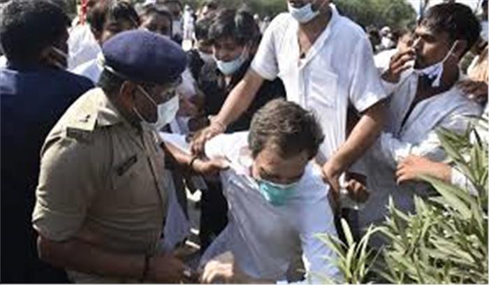 हाथरस कांड - राहुल प्रियंका के खिलाफ 48 पेज की FIR , कानून तोड़ने के मामले में जल्द होगी कार्रवाई - यूपी पुलिस