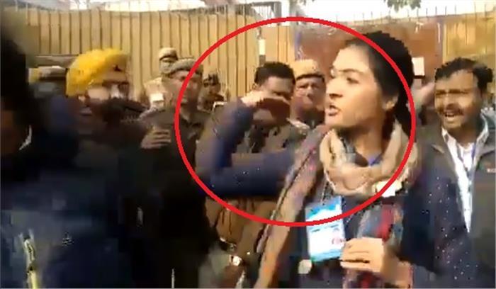 Delhi Election LIVE - चांदनी चौक से कांग्रेस उम्मीदवार अलका लांबा ने AAP कार्यकर्ता को चांटा मारा , केजरीवाल ने किया ट्वीट