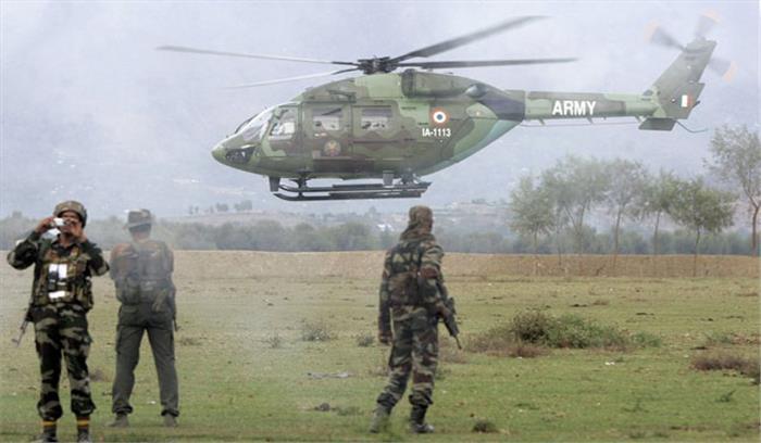 सेना दिवस के परेड से पहले बड़ा हादसा, रिहर्सल के दौरान हेलीकाॅप्टर से गिरा जवान, बाल-बाल बची जान