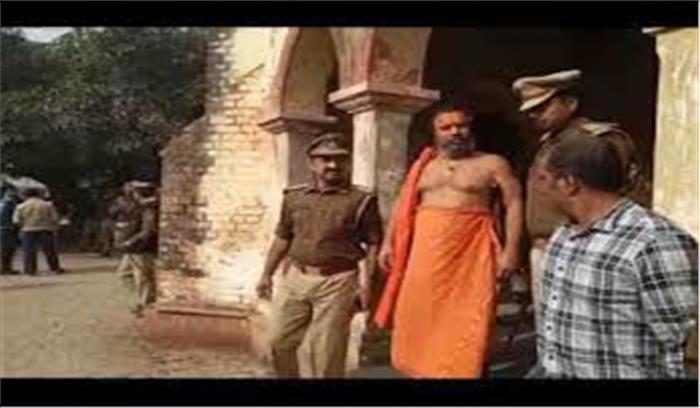 मंदिर निर्माण न होने पर आत्मदाह की चेतावनी देने वाले 'संत' हुए गिरफ्तार, भेजे गए 14 दिनों की न्यायिक हिरासत में