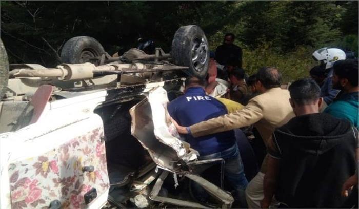 गोपेश्वर में बरात का वाहन खाई में गिरा, 2 लोगों की मौत 7 गंभीर रूप से घायल