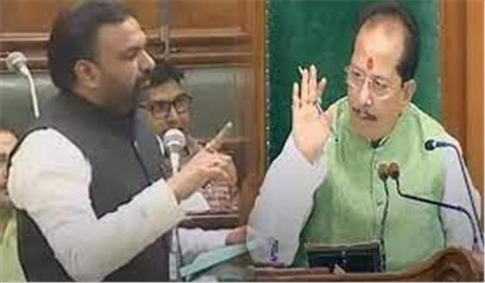 अब बिहार सरकार के मंत्री ने स्पीकर को अँगुली दिखाकर कहा - ज्यादा व्याकुल होने की जरूरत नहीं है