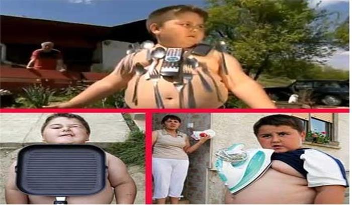 इस 7 साल के बच्चे में हैं magnetic power, शरीर से अपने आप चिपक जाती है चीजें...देखें तस्वीरें