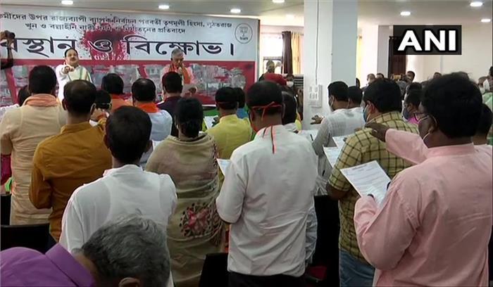 बंगाल में जेपी नड्डा ने भाजपा विधायकों को भी दिलवाई शपथ , राष्ट्रीय अध्यक्ष बोले - हम रचनात्मक विपक्ष बनेंगे