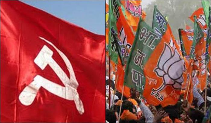 केरल में भाजपा—माकपा में झड़पें, एक—दूसरे के कार्यकर्ताओं के घरों व वाहनों पर किया हमला