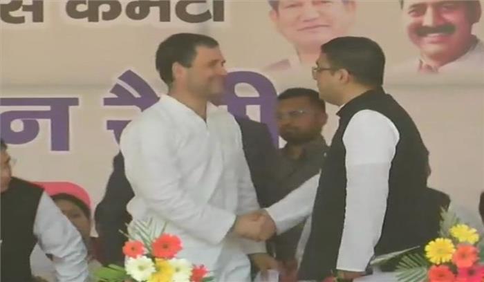 पूर्व केंद्रीय मंत्री भुवनचंद्र खंडूरी के बेटे मनीष कांग्रेस में शामिल , राहुल गांधी ने गले लगाकर किया स्वागत