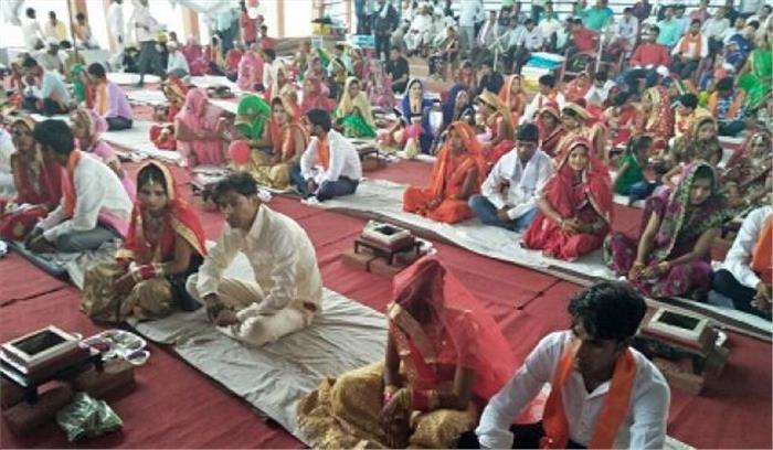 यूपी में मुख्यमंत्री सामूहिक विवाह समारोह में लाई गई नाबालिग , दूल्हा हुआ फरार