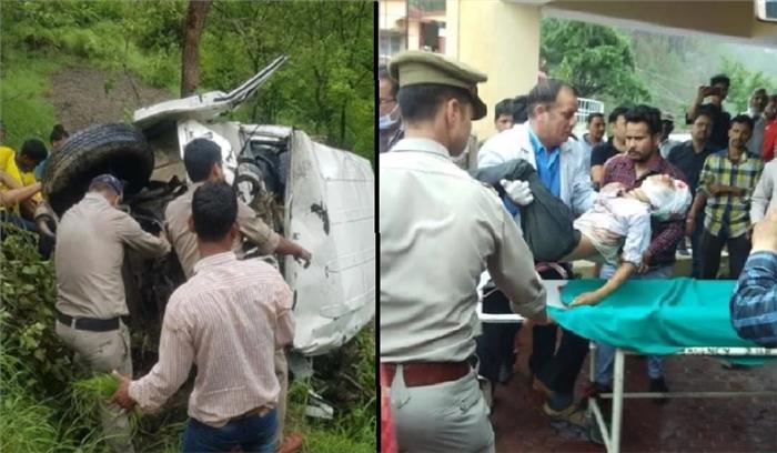 टिहरी - प्रतापनगर ब्लॉक में स्कूल वैन दुर्घटनाग्रस्त , 9 बच्चों की मौत 11 घायल , क्षमता से दोगुने थे वाहन में स्कूली छात्र