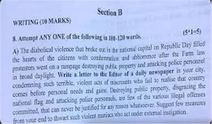 चेन्नई - CBSE स्कूल की परीक्षा में दिल्ली में हंगामा करने वाले किसानों को