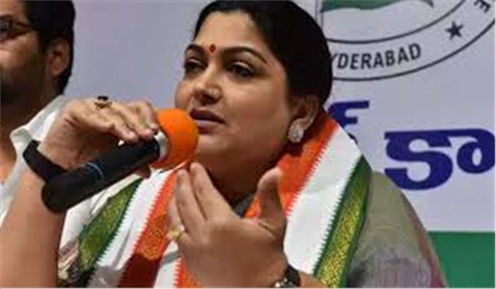 कांग्रेस प्रवक्ता खुशबू ने सोनिया गांधी को चिट्ठी लिखकर दिया पार्टी से इस्तीफा , बड़े नेताओं पर गंभीर आरोप