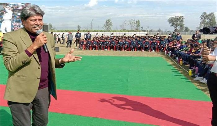 रुद्रपुर पहुंचे कपिल देव , कहा - उत्तराखंड में हो या किसी अन्य प्रदेश में लेकिन खेलों इंडिया के लिए