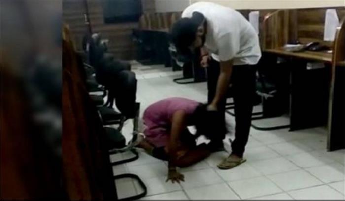 वायरल वीडियो - युवती को बेरहमी से पीटने वाले दरोगा के बेटे पर होगी कार्रवाई , उदासीन पुलिस को गृहमंत्री राजनाथ का निर्देश