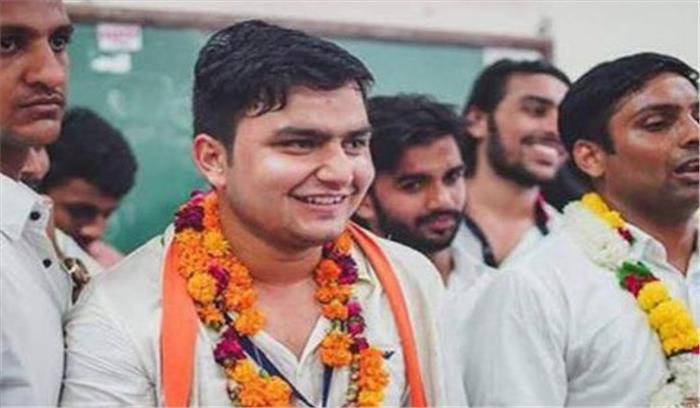 डीयू चुनावों में एवीबीपी को करार झटका, एनएसयूआई ने रॉकी बने अध्यक्ष