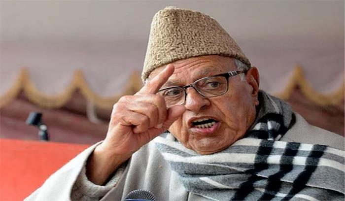 फारूख अब्दुल्ला ने एक बार फिर दिया विवादित बयान, कहा-कश्मीर मुद्दा सुलझाने के लिए सरकार को पाकिस्तान से बात करनी होगी