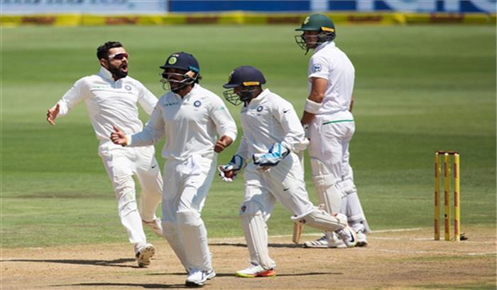 LIVE- कोहली ने 150 रन बनाकर चूमी अनुष्का की पहनाई अंगूठी, भारत 307 पर ऑल आउट, द. अफ्रीका दूसरी पारी में 3/2