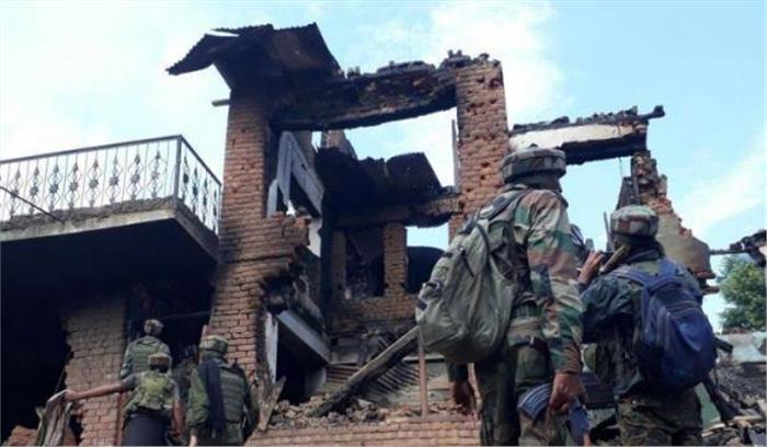 पुलवामा में आतंकियों से मुठभेड़ में एक आतंकी ढेर , हथियार बरामद -ऑपरेशन जारी