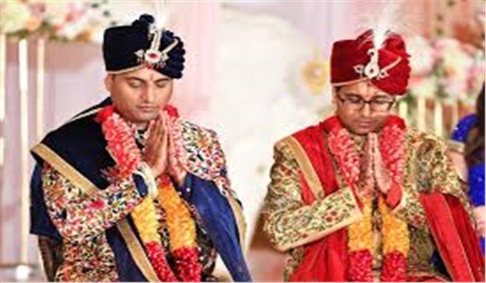 परिजनों ने समलैंगिक पराग - वैभव की विधिविधान से करवाई शादी , कन्यदान की जगह किया गया वरदान
