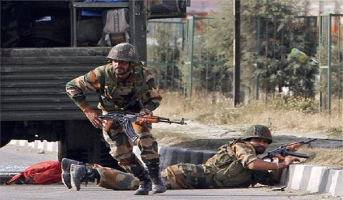 जम्मू—कश्मीर में घुसपैठ की कोशिश नाकाम, पांच आतंकी ढेर, भारी मात्रा में गोला—बारूद बरामद