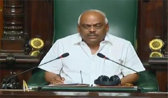 कर्नाटक संकट - स्पीकर रमेश कुमार बोले - मुझसे मिलने कोई विधायक नहीं आया , 13 में से 8 विधायकों के इस्तीफे नियमानुसार नहीं