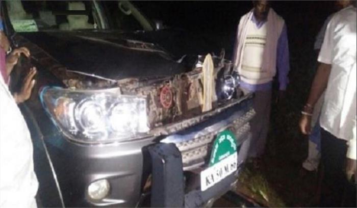 कर्नाटक के पूर्व मुख्यमंत्री येदियुरप्पा के बेटे की गाड़ी से कुचलकर युवक की मौत