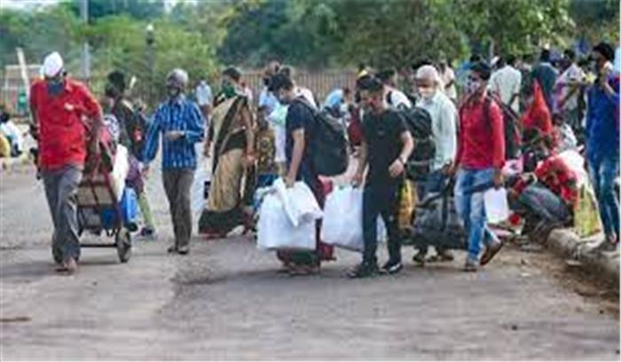 लॉकडाउन के डर से प्रवासी मजदूरों का रुख अपने गांव की ओर , दिल्ली - महाराष्ट्र में ज्यादा हलचल