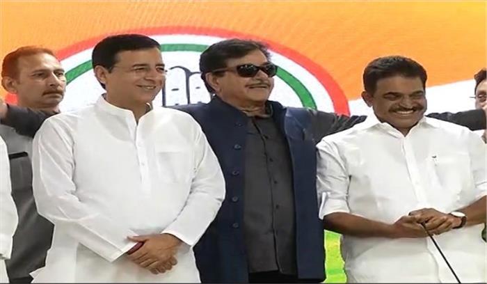 LIVE - शत्रुघ्न सिन्हा बुझे मन से कांग्रेस में शामिल , कहा-पार्टी क्यों छोड़ रहा हूं सबको पता है , भाजपा की लोकशाही अब तानाशाही में बदली
