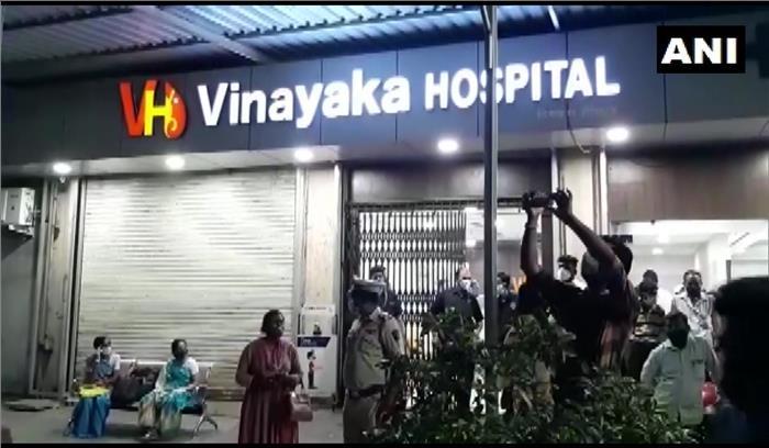 मुंबई - अस्पताल में ऑक्सीजन की कमी से कोरोना के 7 मरीजों की मौत , परिजनों का हंगामा