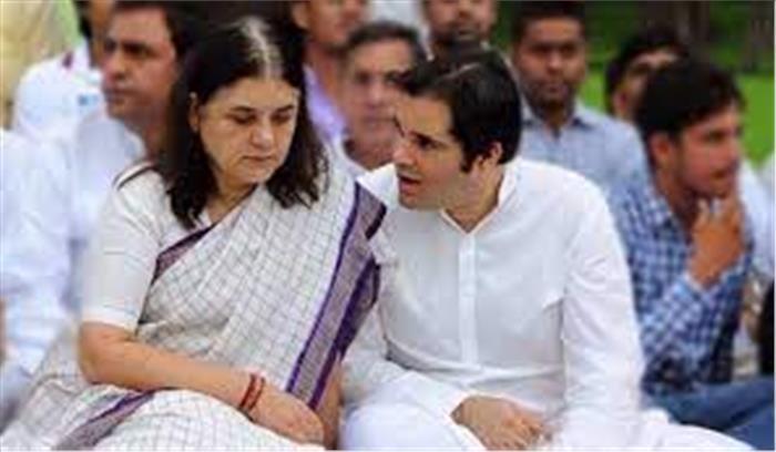 मेनका और वरुण गांधी को भाजपा ने दिखाया