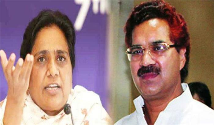 मायावती ने अपने करीबी नेता को पार्टी से निलंबित किया , भाजपा उम्मीदवारों का समर्थन करने का लगा आरोप