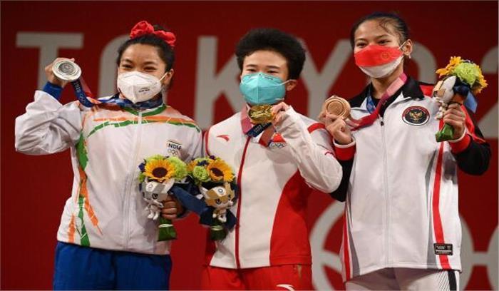 Tokyo Olympics 2020 - भारत को पहले दिन पहला मेडल , भारोत्तोलन स्पर्धा में 21 सालों का इंतजार खत्म , मणिपुर में जमकर आतिशबाजी
