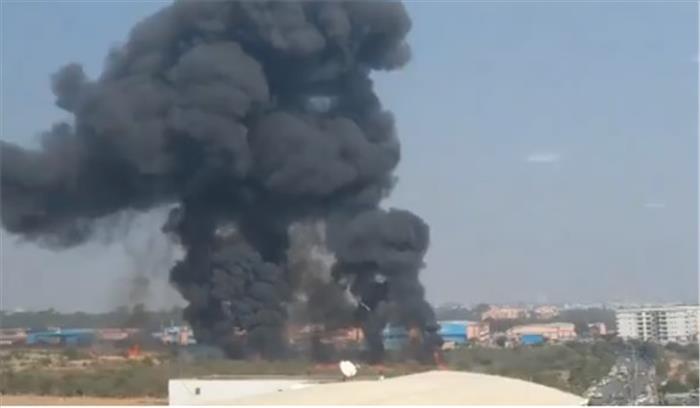 बेंगलुरु में वायुसेना का विमान दुर्घटनाग्रस्त , दोनों पायलट स्क्वाड्रन नेगी और स्क्वाड्रन एबरॉल की मौत