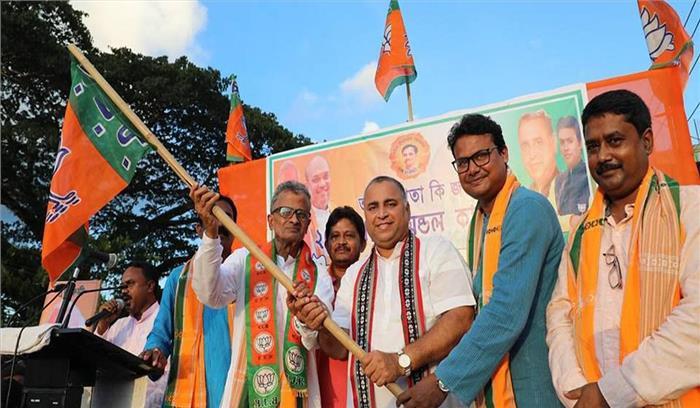 त्रिपुरा में वामपंथी का किला ढहने के बाद नेताओं का पलायन भी शुरू, विश्वजीत दत्ता ने थामा भाजपा का दामन