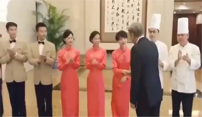 पाकिस्तानी विदेश मंत्री कुरैशी की किरकिरी , चीन में कश्मीर मुद्दे पर समर्थन जुटाने गए थे , होटल स्टाफ से मुलाकात पर जमकर उड़ा मजाक