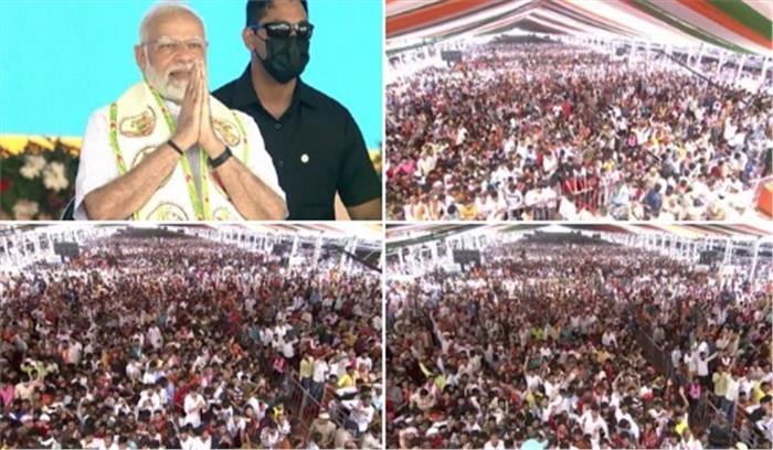 PM मोदी ने की गरीब कल्याण रोजगार की शुरुआत , 50 हजार करोड़ से होंगे सार्वजनिक विकास के काम