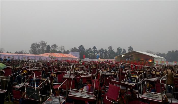मौसम के साथ कांग्रेसियों ने पीएम मोदी की रुद्रपुर जनसभा खराब करने की बनाई रणनीति, भारी संख्या में रैली स्थल पर जमा
