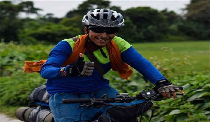उत्तराखंड के 'प्रदीप' ने महाराष्ट्र के संतोष का तोड़ा रिकाॅर्ड, साइकिल से यात्रा का बनाया नया कीर्तिमान