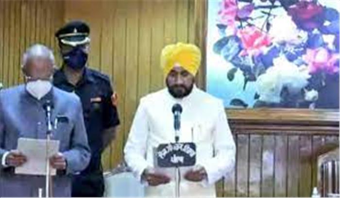 पंजाब - चरणजीत सिंह चन्नी ने ली CM पद की शपथ , दो डिप्टी सीएम बनाए , देर से पहुंचे राहुल गांधी