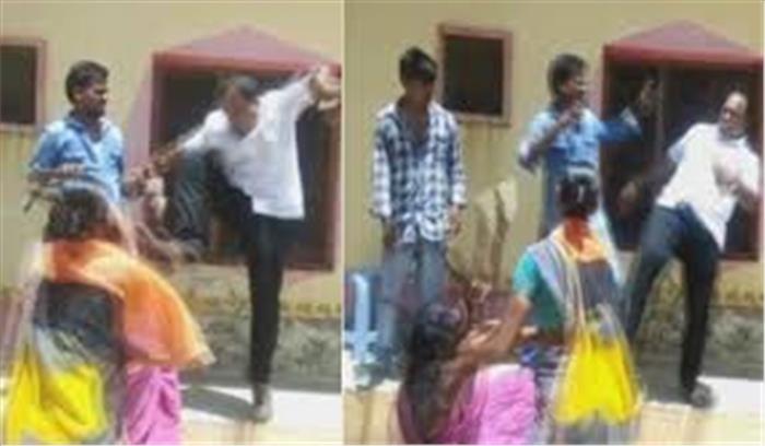 तेलंगाना में टीआरएस विधायक की दबंगई आई सामने, महिला की लात से पिटाई के बाद मामला दर्ज